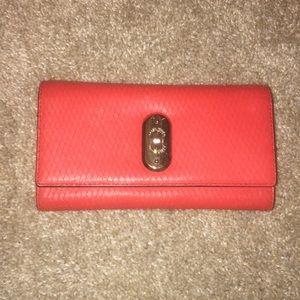 Karen millen brand new red leather wallet